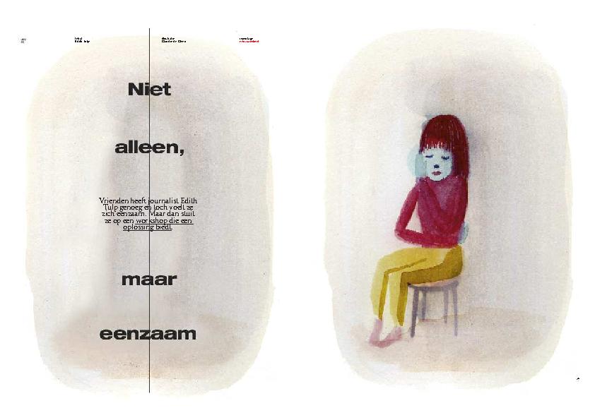 Volkskrant Magazine: Niet alleen toch eenzaam