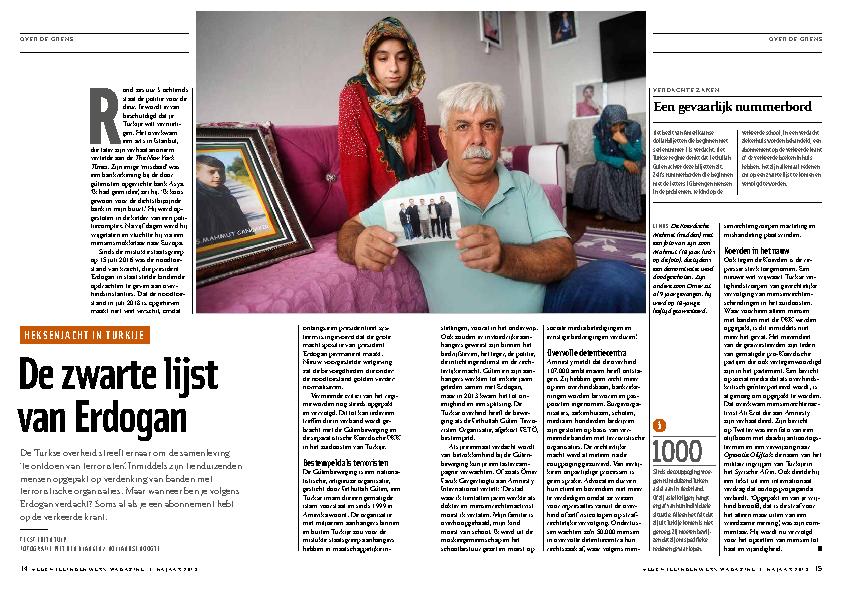 VluchtelingenWerk Magazine. De zwarte lijst van Erdogan